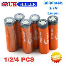 Nueva batería IMR 18650-Tapa Plana 3.7V 3000mAh Li-ion recargable de litio Reino Unido