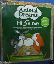 HI 5 A DAY TIMOTHY HAY + MINT MARIGOLD BEETROOT SWEET PEPPERS RABBIT TORTOISE