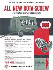 Equipment Brochure - Gardner-Denver - Rota-Screw Air Compressor - 1961 (E4272)