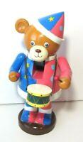 "Teddy Bear Nutcracker 10"" Playing Drum Marching Band Vintage 1993 Matrix"