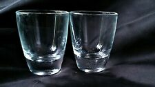 """2 Plain Shot Glasses Also Useful When Measuring To Make Cocktails 2"""" Tall x 1½""""W"""