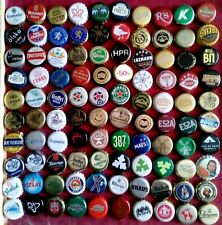 100 Beer Bottle Caps different Countries Used