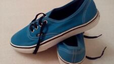 Vans mens US sz 5 blue  canvas sneakers shoes casual wear used clean good to go