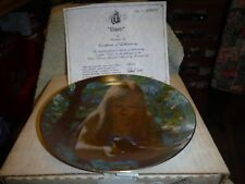 Viletta Collector Plate 1980  Dawn Thornton Utz Girl Bird