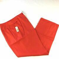 Talbots Irish Linen Women's Size 10 Petite Red  Dress Pants Lined Straight Leg