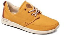 New Women's REEF ROVER LOW Mustard Yellow Lace Up Canvas/Suede Shoes UK 8 EU 41