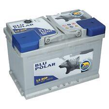 Starterbatterie 12V 80Ah 730A/EN Bären Blu Polar Autobatterie Neu Wartungsfrei