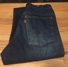 Vtg. Levis 646 Small e No Redline Orange Tab Talon Zip Bell Bottoms Denim Jean.