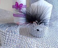 2 M x 8 rangs(4cm).RUBAN STRASS ARGENT. décoration de salle mariage fêtes bijoux
