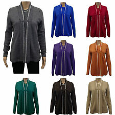 Scoop Neck Cardigans for Women without Fastening