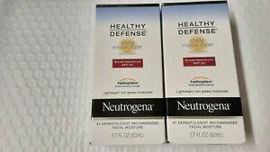 Neutrogena Healthy Defense Daily Moisturizer SPF 50 Lot of 2 ~ 1.7 fl oz ea