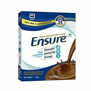 Ensure Balanced Adult Nutrition Health Drink - 200 gm  (Chocolate) Free shipping