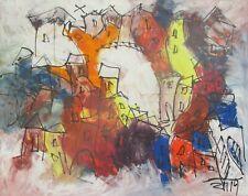 Toscana expressive Landschaft 80x100cm Acryl/LW Sonja Zeltner-Müller