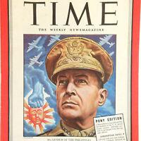 1940's General MacArthur Vintage Time Magazine WW2 October 30, 1944