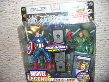 "Marvel Legends Face Off 6"" Figure 2 Pack, Variant Captain America ve Red Skull"