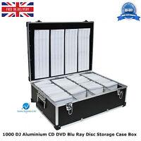 2 x 1000 DJ Aluminium CD DVD Blu Ray Disc Storage Carry Case Box Numbered Sleeve