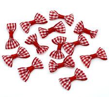100 Noeuds Papillons Rouge Embellissement Scrapbooking 30x15mm