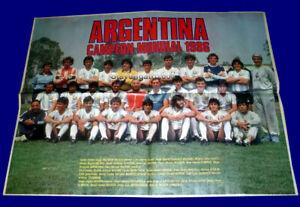 FIFA WORLD CUP Mexico 1986 ARGENTINA TEAM - MARADONA El Grafico Original Poster