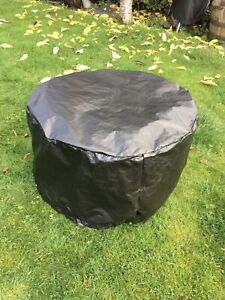 Medium Round Fire Pit Cover, Black 60cm Diameter X 50 Made In The UK