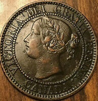 1859 CANADA LARGE CENT LARGE 1 CENT PENNY COIN - Excellent example!