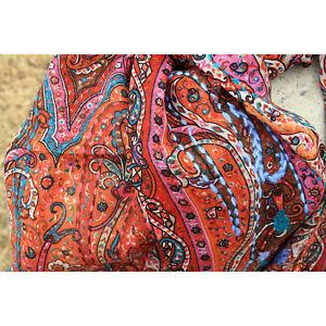 100%Wool Paisley scarf Winter Women Wear Designer Stoles, Wrap, Shawl