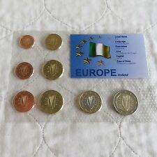 IRELAND 2002 8 COIN EURO UNCIRCULATED SET - sealed pack