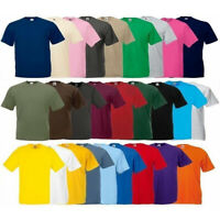 Fruit of the Loom Original Cotton Plain Blank Men's Tee Shirt Tshirt T-Shirt NEW