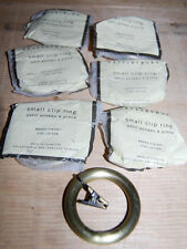 New Pottery Barn small clip rings set 7 weathered brass drapes curtain .75 rod