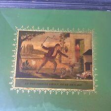Tableau Fixé Sous Verre Peint XIXè 1820 Charles X TBE Eglomise Romantic 19C