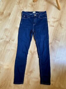 River Island Dark Blue Denim Skinny Molly Jeans Size 12