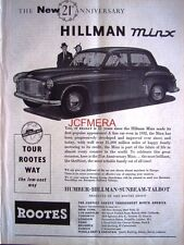 Hillman 'MINX' 1953 Motor Car ADVERT #3 - Original Auto Print AD