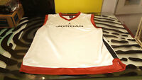 Jordan Basketball Jersey Sleeveless Good Cond White Red Youth LG Size 16-18 Nike