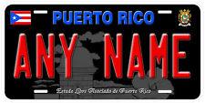 Puerto Rico Black Any Name Car Auto Novelty License Plate B3