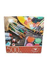 "500 Piece Jigsaw Puzzle ""ART SUPPLIES"" Cardinal  14"" X 11"" Family Fun"
