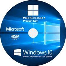 Windows 10  For 64-Bit Home & Pro  /Re- Install /Repair DVD / Full Version