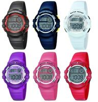 Lorus Digital Chronograph Children / Youth Watch Red, Blue, Black, Pink, Purple