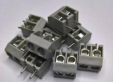 10 x RT01502HDWU Metz Schraubklemme (Typ 055) 2 polig RM 5