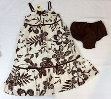 NWT Baby Gap Girls Brown Safari 2 Piece Summer Dress  3 3T