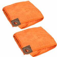 "Tall Tails Orange Pet Dog Cape Pocket Towel Large 27""x27"" 2Pack"