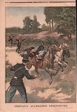 COINCOURT * DESERTION * CHEVEAUX UHLANS DE GUÉBLANGE    ILLUSTRATION 1899