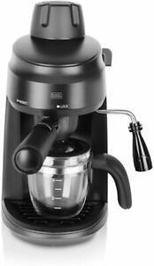 Black + Decker BXCM0401IN 4-Cup Espresso & Cappuccino Coffee Maker- 220V- 870W