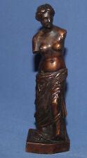 Vintage hand made bronze nude woman figurine Venus de Milo