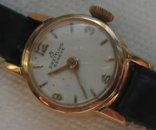 Breitling lady wristwatch 18K solid gold case load manual