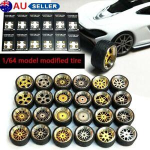 1/64 Scale Alloy Wheels - Custom Hot Wheels, Matchbox,Tomy, Rubber Tires AU