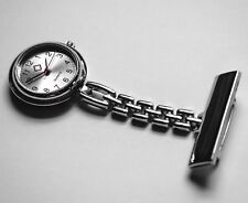 2 X Stainless Steel Nurse Watch Fob Silver Quartz UK SELLER Fast Delivery