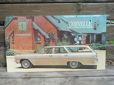 """1964 Chevrolet Chevelle """"300"""" 4-Door Station Wagon Showroom Poster Sign-32x18"""