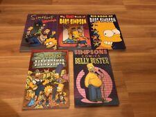 The Simpsons TPB Comics lot Madness, Big Bad Book Bart, Barn Burner, Belly Buste