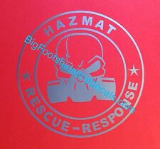 Hazmat Decal Rescue Response Team Gas Mask Emergency Responder Window LARGE