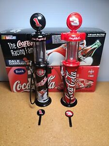 1998 Lot of 2 Dale Earnhardt Sr/Jr #1/3 Coke Gas Pumps Banks 1:16 NASCAR Action