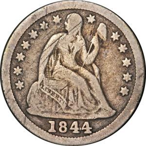 1844 Seated Liberty Dime Nice VG/F Key Date Nice Eye Appeal Nice Strike